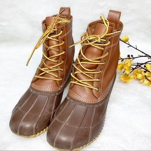 LANDS END | 8 Duck Boots Brown